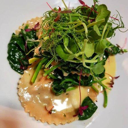 Helmdon, UK: Crab Ravioli on Fish Friday