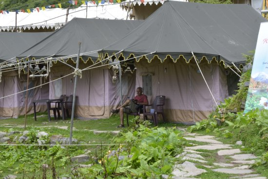 Ghangaria, Indien: the swiss tents...