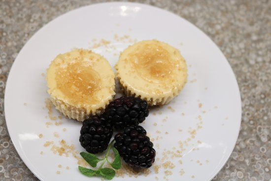 Hart, MI: Individual lemon curd cheesecakes - for breakfast!