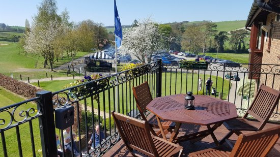Streatley, UK : View from our clubhouse balcony overlooking our wonderful golf course and the Berkshire countrys