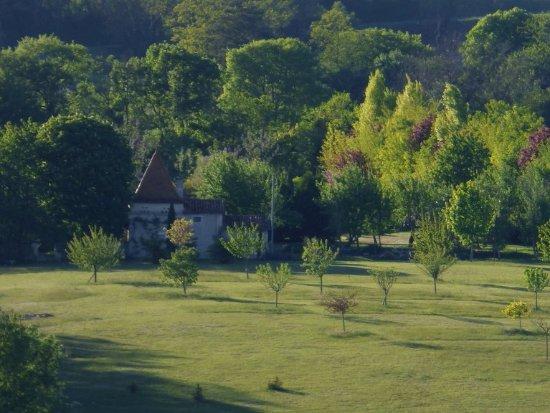 Auriac de Bourzac, France : vue aérienne de la propriété
