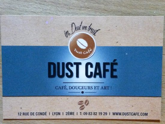 Dust Cafe Carte De Visite
