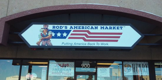 Gillette, WY: Outside Store - Rod's American Market