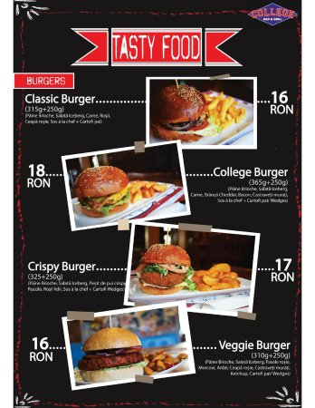 College Bar &Grill: The Burgers