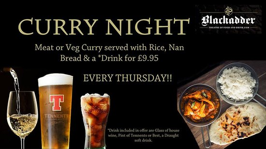 Greenlaw, UK: Curry Night every Thursday