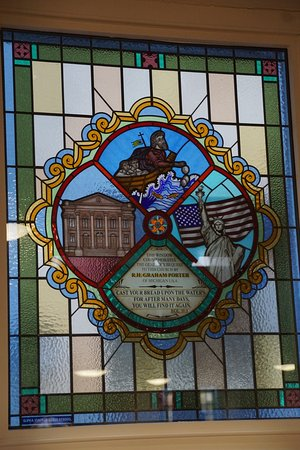 Derry, UK: one of the stained glass windows