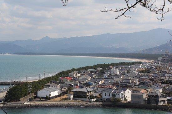 Nijino Matsubara: 唐津城の高台から見た虹の松原の全貌