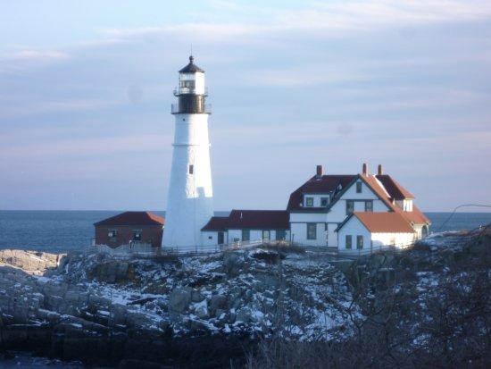 Cape Elizabeth, ME: Portland Head Light in the Winter