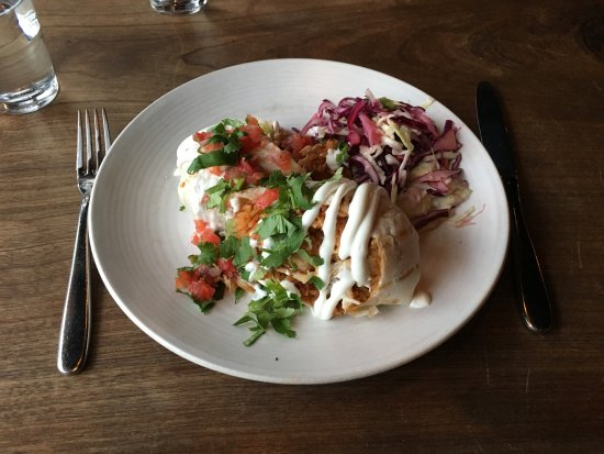 Barrio Mexican Kitchen & Bar: Beer-battered rock cod burrito