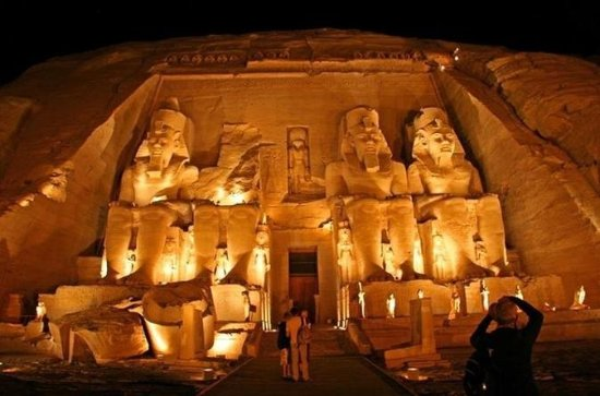 Luxor Sound and Light Show at Karnak...