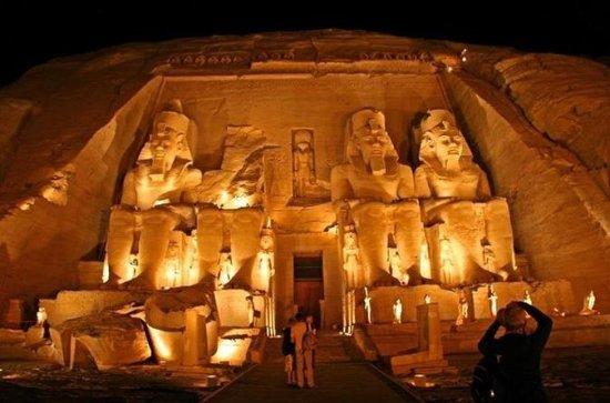 Show de Som e Luz de Luxor no Templo...