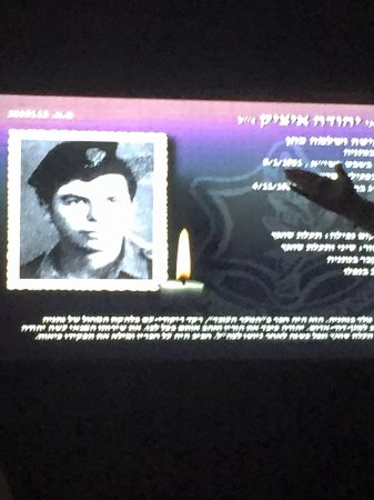 İsrail: Bios of screen of the fallen soldiers