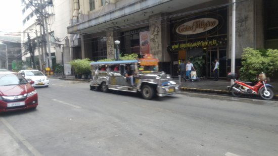 """Executive Hotel: Manila """"Jeepney"""" on the street in front of the hotel"""