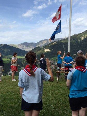 Adelboden: International Girl Scout ceremony