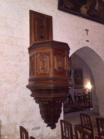 Jaunay-Clan, France: Une chaire originale avec un escalier dans le mur pour y accéder