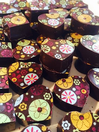 Hogsback, Νότια Αφρική: Dark chocolate with a mint fondant centre