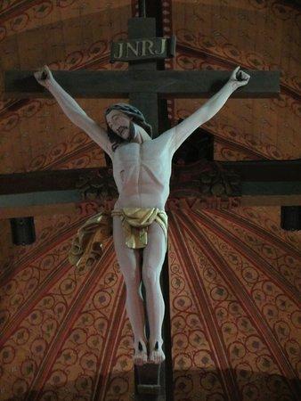 Cany-Barville, France: Eglise de Cany : Le Christ de la poutre de gloire