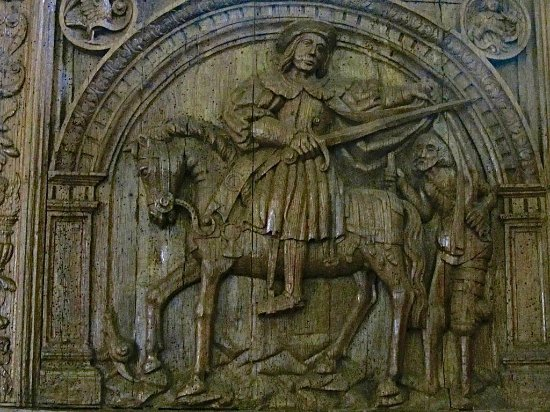 "Cany-Barville, Franciaország: Eglise de Cany : Contre table ""La gloire de Saint Martin"""