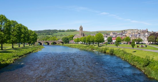 Peebles, an attractive small town, beautifully set on the majestic River Tweed