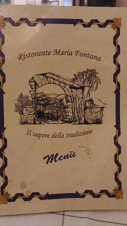 Poggio Moiano, Italy: Menù