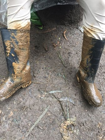 Tenorio Volcano National Park, Costa Rica: Your clothes will get dirty