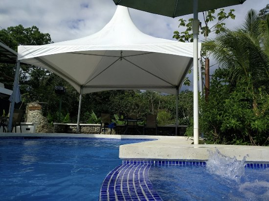Playa Matapalo, Costa Rica: Pool & Jacuzzi to right