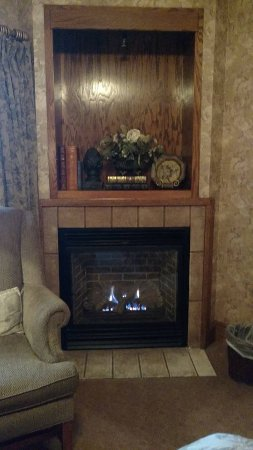 Chetola Resort at Blowing Rock: Gas fireplace with adjustable heat setting