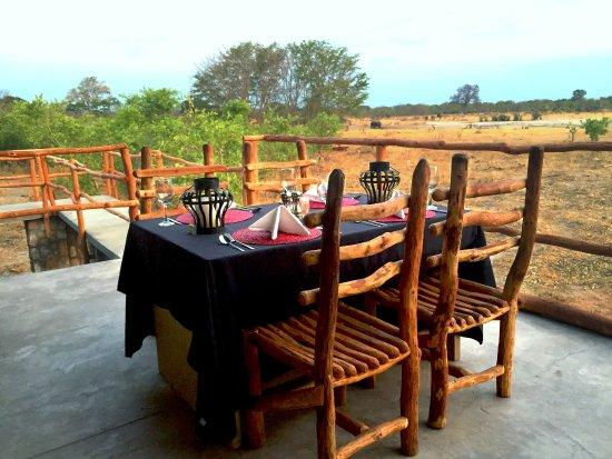 Hwange National Park, Zimbabwe: Private dining at Gwango Elephant Lodge