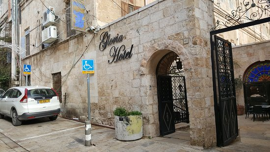 Gloria Hotel: the front of the hotel, just steps from the Jaffa Gate