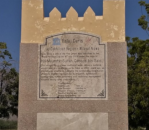 Nizwa, Oman: Informative sign