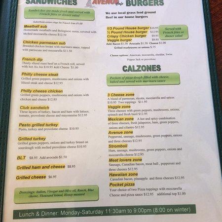cafe miranda menu