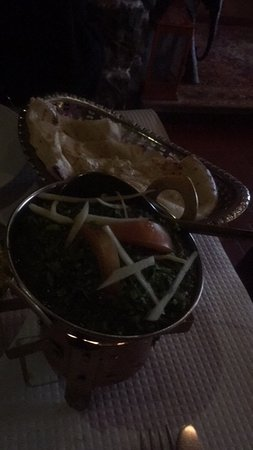 Masala Indian Restaurant: Sautéed spinach with ginger