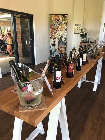 Inside the wine tasting building
