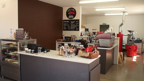 Woodend, Yeni Zelanda: coffee shop and roastery