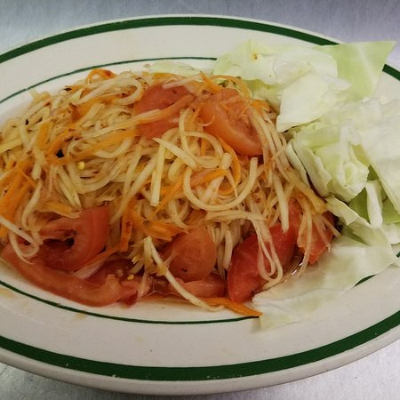 Papaya Salad Picture Of Orchid House Thai Restaurant Fort