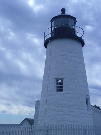 Pemaquid Point Lighthouse on a Cloudy Day