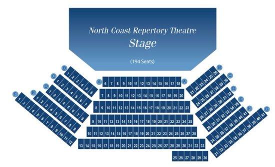 North Coast Repertory Theatre: Seating chart