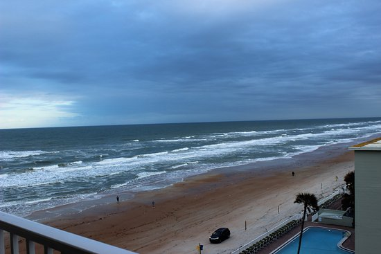 The Cove on Ormond Beach: View of the beach from our living room balcony