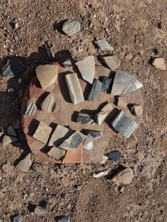 Ojo Caliente, NM: Pottery shards from P'osi Ruins