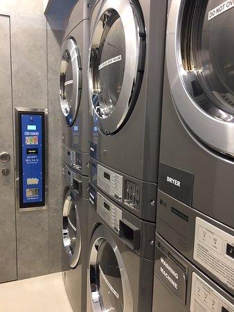 Self-serve laundry room