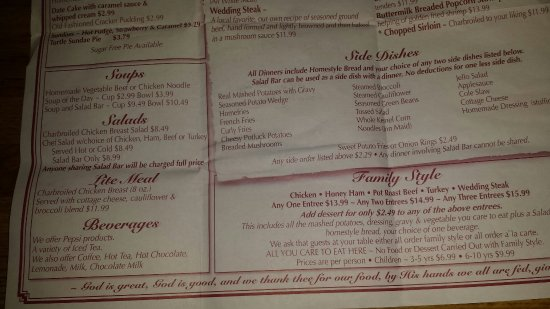 Mount Hope, OH: Full Menu