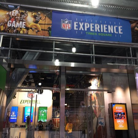 Popcorn cart at the NFL Experience in Times Square,