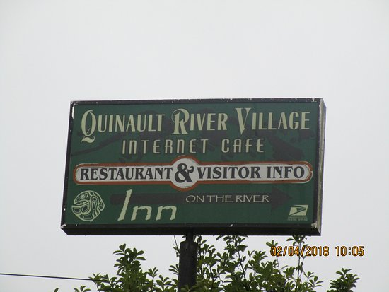 ‪‪Quinault Internet Cafe‬: Sign‬