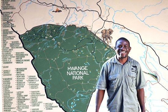 Map of Hwange National Park at Gwango Heritage Resort