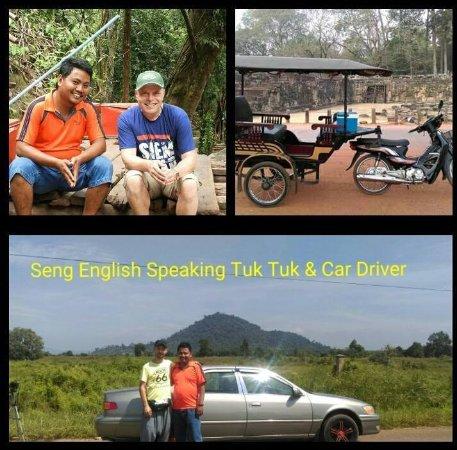 Сием-Рип, Камбоджа: Seng English Speaking Tuk Tuk & Car Driver Private
