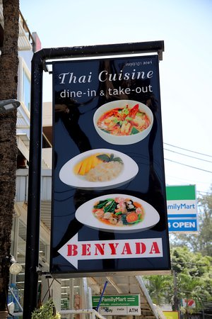Sign of the resturant