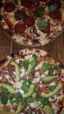 Tiger's Milk on Long: Peperoni & Avocado-Bacon Pizza