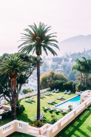 Bantry Bay, South Africa: Palm Trees, lawns and pools