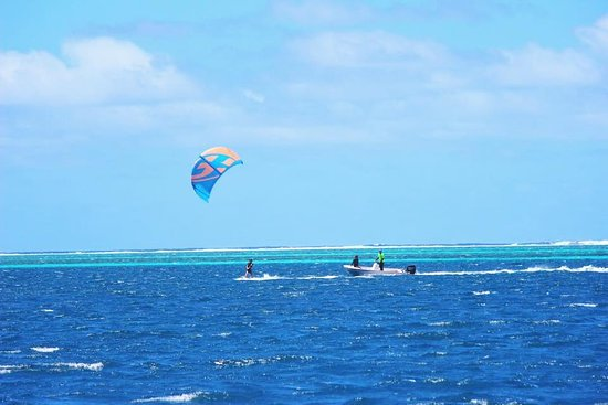 Mahina, Polinezja Francuska: cours de kitesurf seul sur le spot