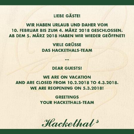 Hackethals